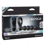 Pipedream Fantasy C-Ringz Remote Control Double Penetrator - Black Sex Toy