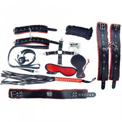 Deluxe Everything Bondage Kit - Red