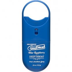 Goodhead Deep Throat To Go Oral Anesthetic Spray - Blue Raspberry - .33 oz.