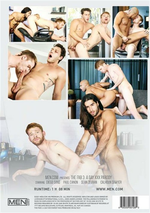 The Fab 3 - A Gay XXX Parody Cover Back