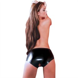 Latex Open Crotch Panties