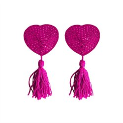 Ouch! Nipple Tassels - Pink Hearts