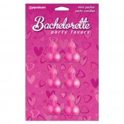 Bachelorette Party Favors Mini Pecker Party Candles - 6 piece