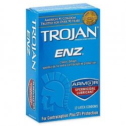 Trojan Enz With Spermicidal Lubricant - 12 Pack Sex Toy