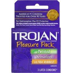 Trojan Pleasure Pack Lubricated - 3 Pack