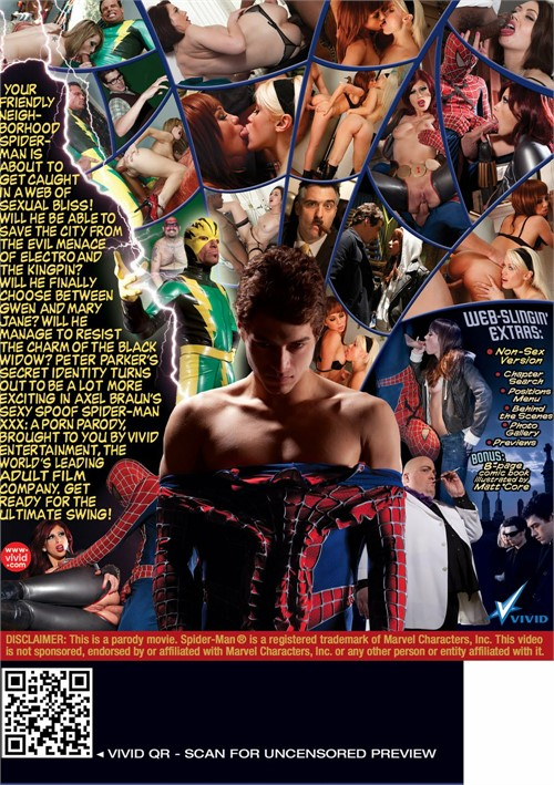 Back cover of Spider-Man XXX: A Porn Parody