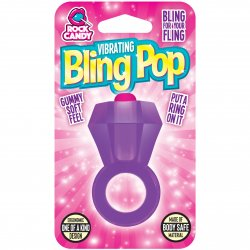 Rock Candy - Bling Pop Vibrating Ring - Purple Sex Toy