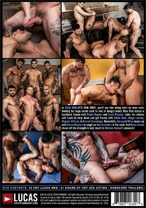 Rico Marlons Raw Orgy Cover Back