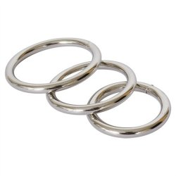 Metal Cock Ring 3-Pack Sex Toy