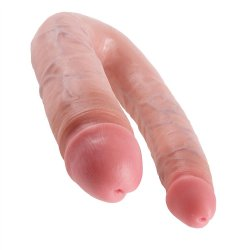 King Cock: Large Double Trouble - Flesh Sex Toy