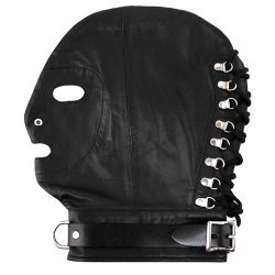 Rouge Mask With D Ring And Lock Strap - Black