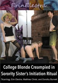 College Blonde Creampied in Sorority Sister's Initiation Ritual Porn Video