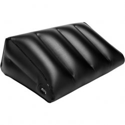 Steamy Shades Inflatable Wedge Position Pillow - Black Sex Toy