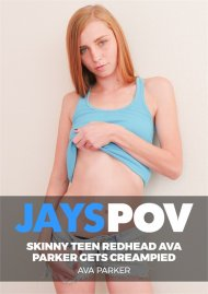 Skinny Teen Redhead Ava Parker Gets Creampied image