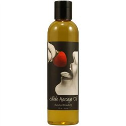 Earthly Body Hemp Edible Massage Oil - 8oz - Strawberry