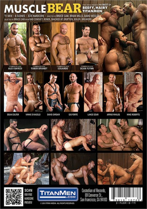 Muscle Bear The Best of Beefy Hairy TitanMen Cover Back