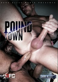 Pound Town gay porn DVD shot in HD.