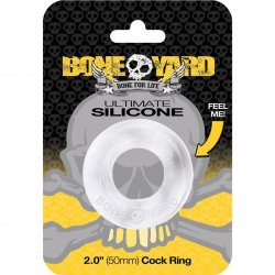 "Boneyard Ultimate Silicone Ring - 2.0"" - Clear Sex Toy"