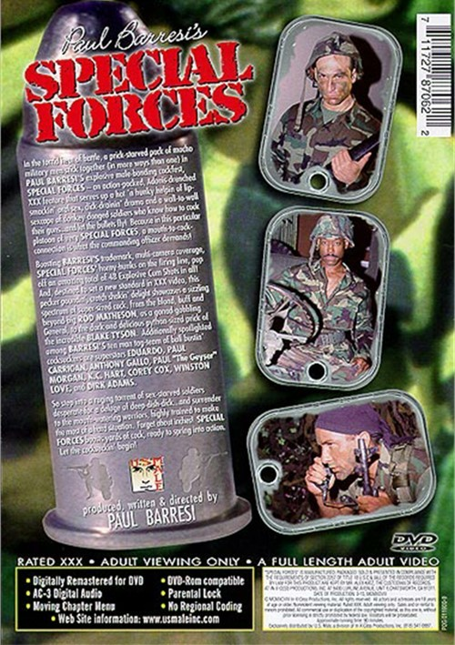 Special Forces (USMale) Cover Back