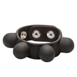 Silicone Weighted Ball Stretcher - Black Sex Toy