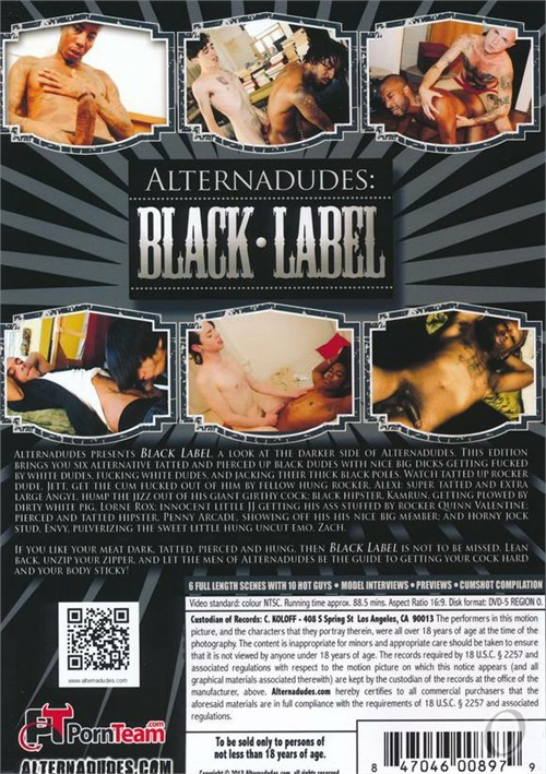 Black Label Cover Back