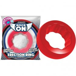 Rock Candy - Rock On Ring - Red Sex Toy