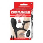 Commander Remote Control Vibrating Climaxer - Black Sex Toy