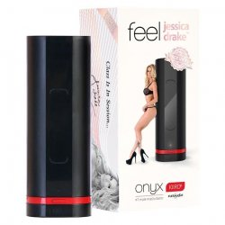 Fleshlight: Kiiroo Onyx Interactive Masturbator – Jessica Drake Experience sex toy from Fleshlight.