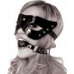 Fetish Fantasy Masquerade Mask & Ball Gag Restraint - Black Sex Toy