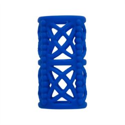 Simply Silicone: Textured Cock Cage Midnight Blue