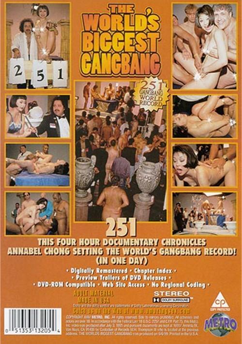 Back cover of World's Biggest Gang Bang