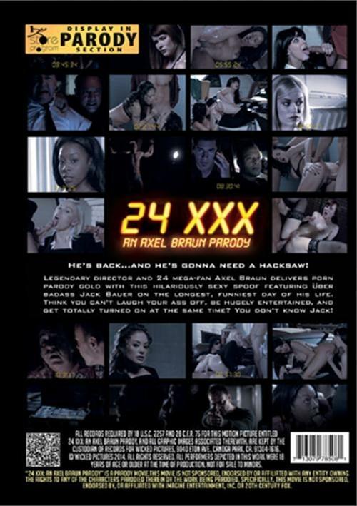 Back cover of 24 XXX: An Axel Braun Parody