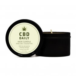 Earthly Body CBD Daily Skin Candle 3-In-1 - 6oz Sex Toy