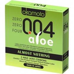 Okamoto 004 Aloe Condoms - 3 Pack Sex Toy