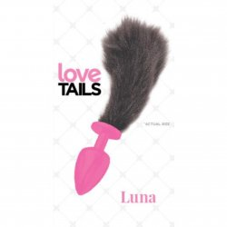 Love Tails: Luna Pink Plug with Short Black Tail - Small Sex Toy