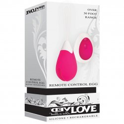 Evolved Remote Control Egg - Pink/White Sex Toy