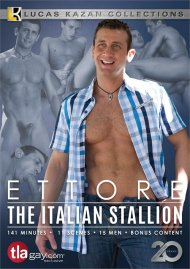Ettore: The Italian Stallion gay porn DVD from Lucas Kazan Productions