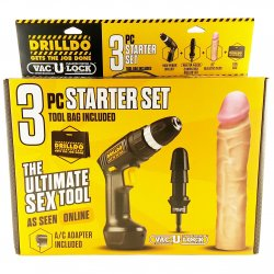 Drilldo 3 Piece Starter Set Sex Toy