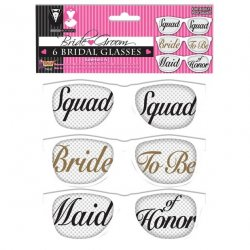 Bridal Party Mesh Glasses - Set of 6 pairs