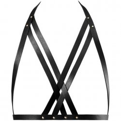 Bijoux Indiscrets: Maze Halter Bra Harness - Black Sex Toy