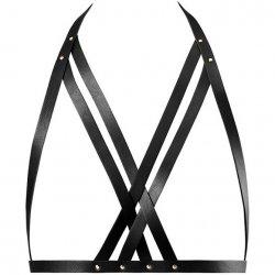 Bijoux Indiscrets: Maze Halter Bra Harness - Black