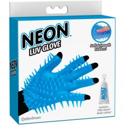 Neon Luv Glove - Blue Sex Toy