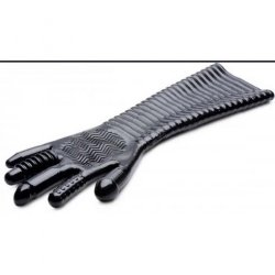 Extra Long Textured Fisting Glove - Black Sex Toy