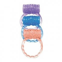 The Macho Collection 3 Ring Set - Assorted Colors Sex Toy