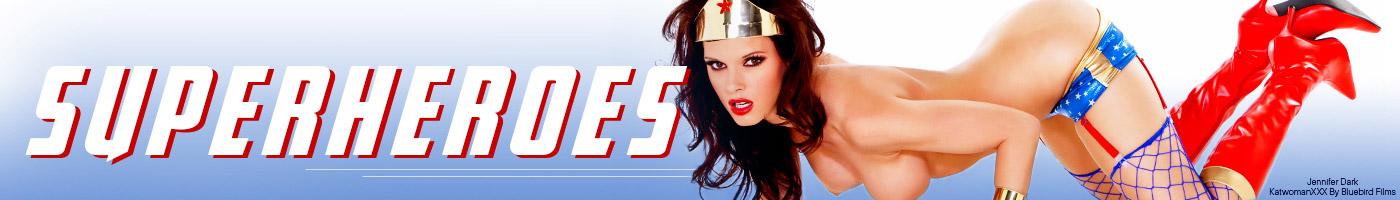 Jennifer Dark stars in Batwoman XXX porn movie.