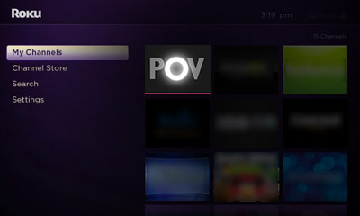 Open the Filthy POV channel on your Roku Image