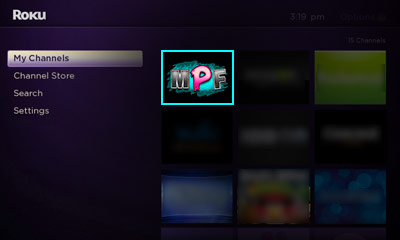 Open the Manipulative Media Membership Site channel on your Roku Image