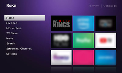 Open the Filthy Kings channel on your Roku Image