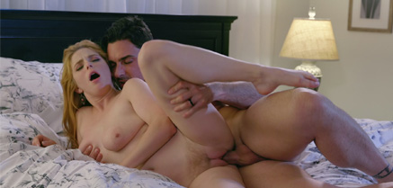 Penny Pax and Ryan Driller Bang on the Bed.